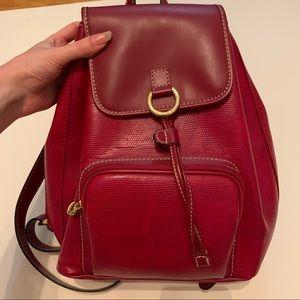 Designer Lancel red leather backpack NWOT